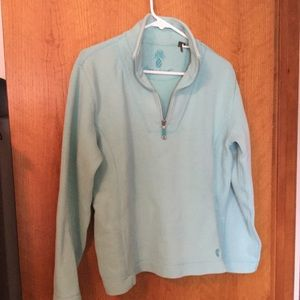 Sea foam green 3/4-zip sweater/sweatshirt